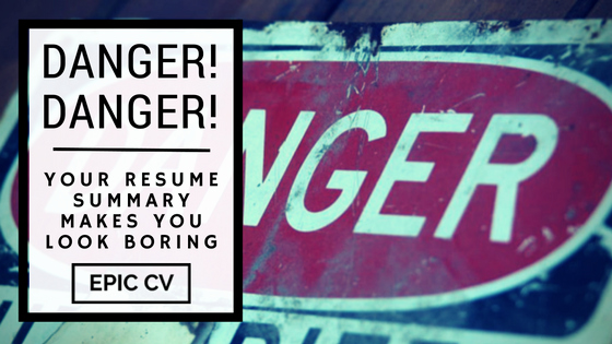 Synonym for Team Player Resume New Danger Danger Your Resume Summary Makes You Look Boring