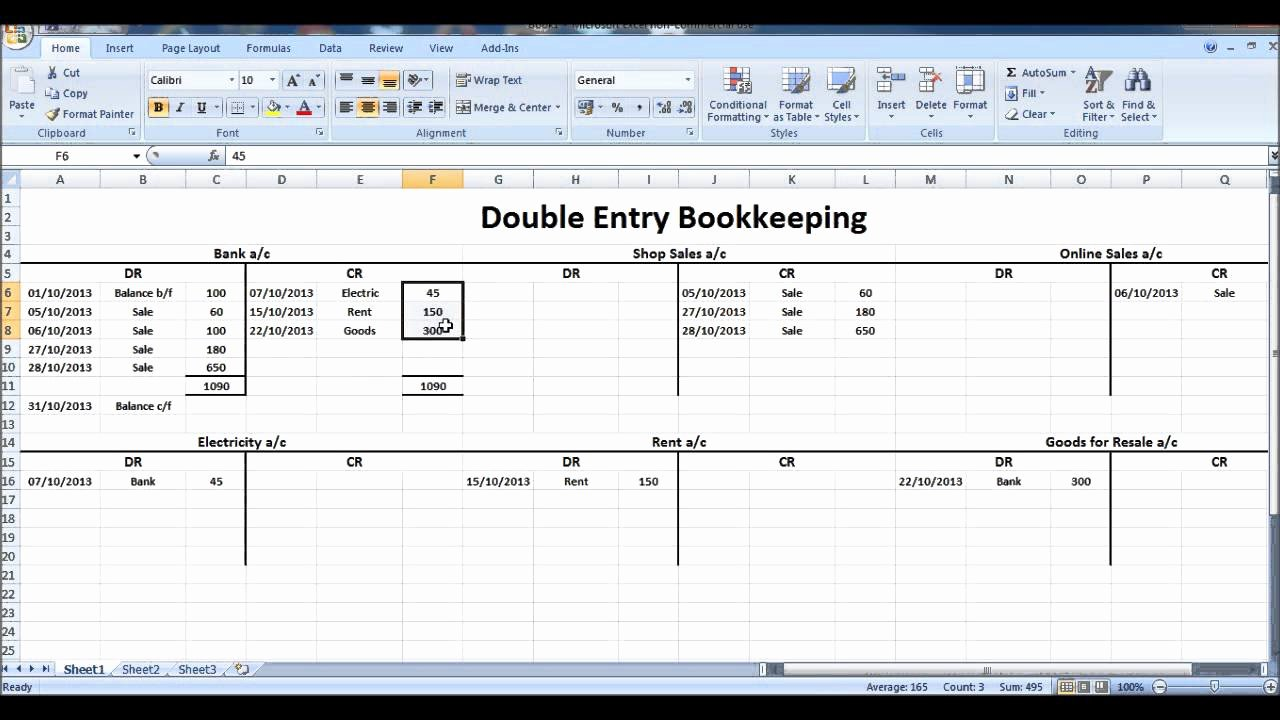 T Account Template Excel New Free Line Bookkeeping Course 9 Closing T Accounts