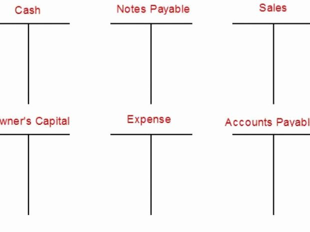 T Account Template Excel New T Account Template