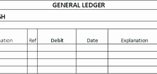T Account Template Excel Unique General Ledger Template