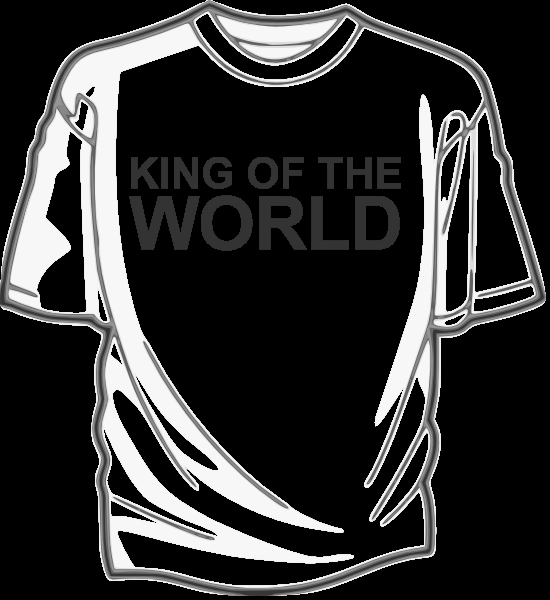 T-shirt Drawing Elegant King Of the World
