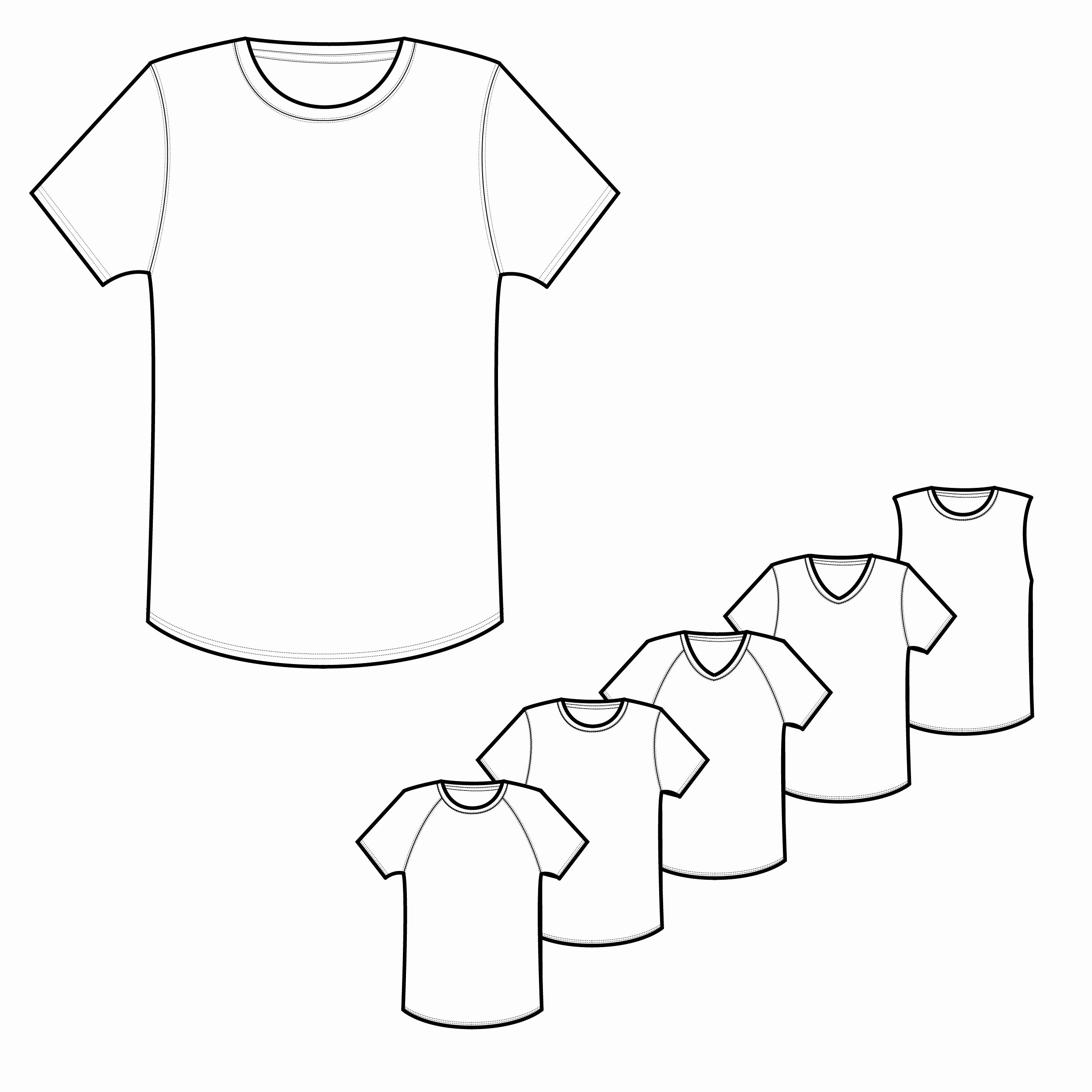 T-shirt Drawing Fresh Mens Classic & Raglan Tee Shirt Technical Drawings