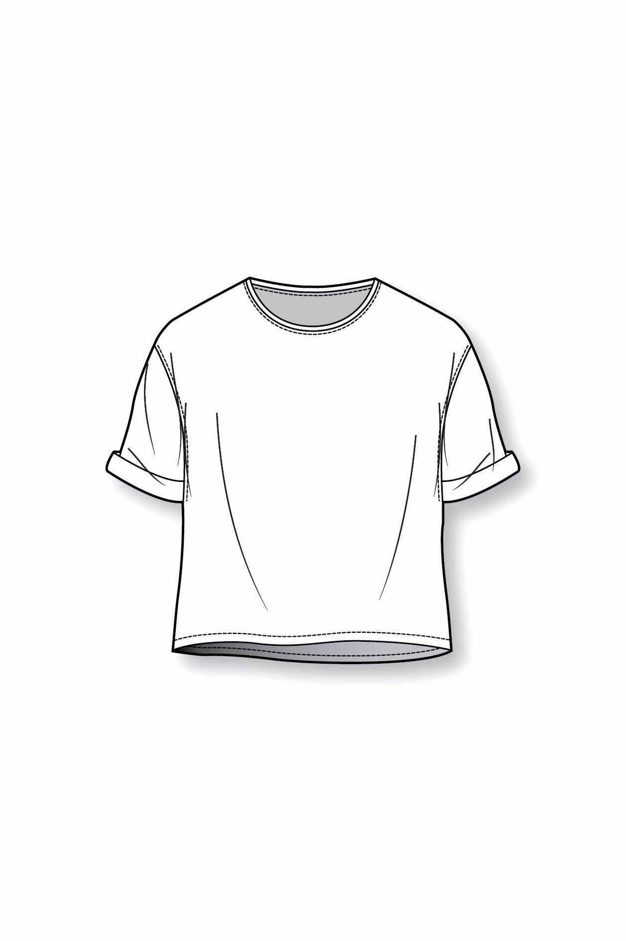 T-shirt Drawing Luxury Boxy T Shirt Patternmaking