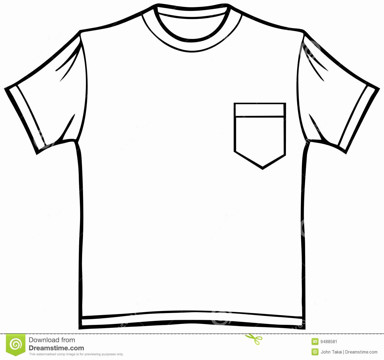 T-shirt Drawing New T Shirt with Pocket Stock Vector Illustration Of Cotton