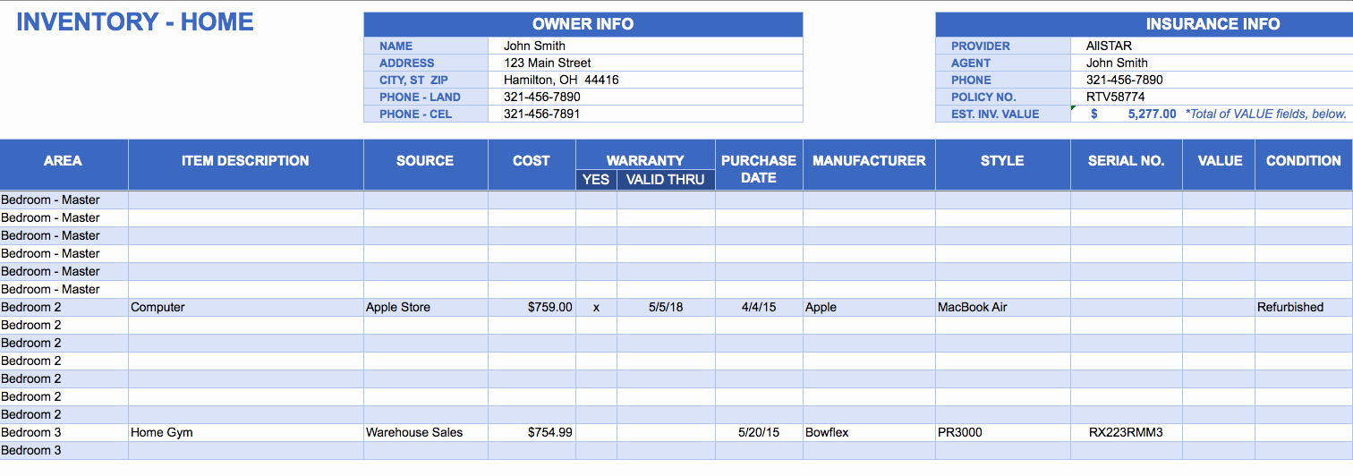 T Shirt Inventory Spreadsheet Template Awesome Free Excel Inventory Templates