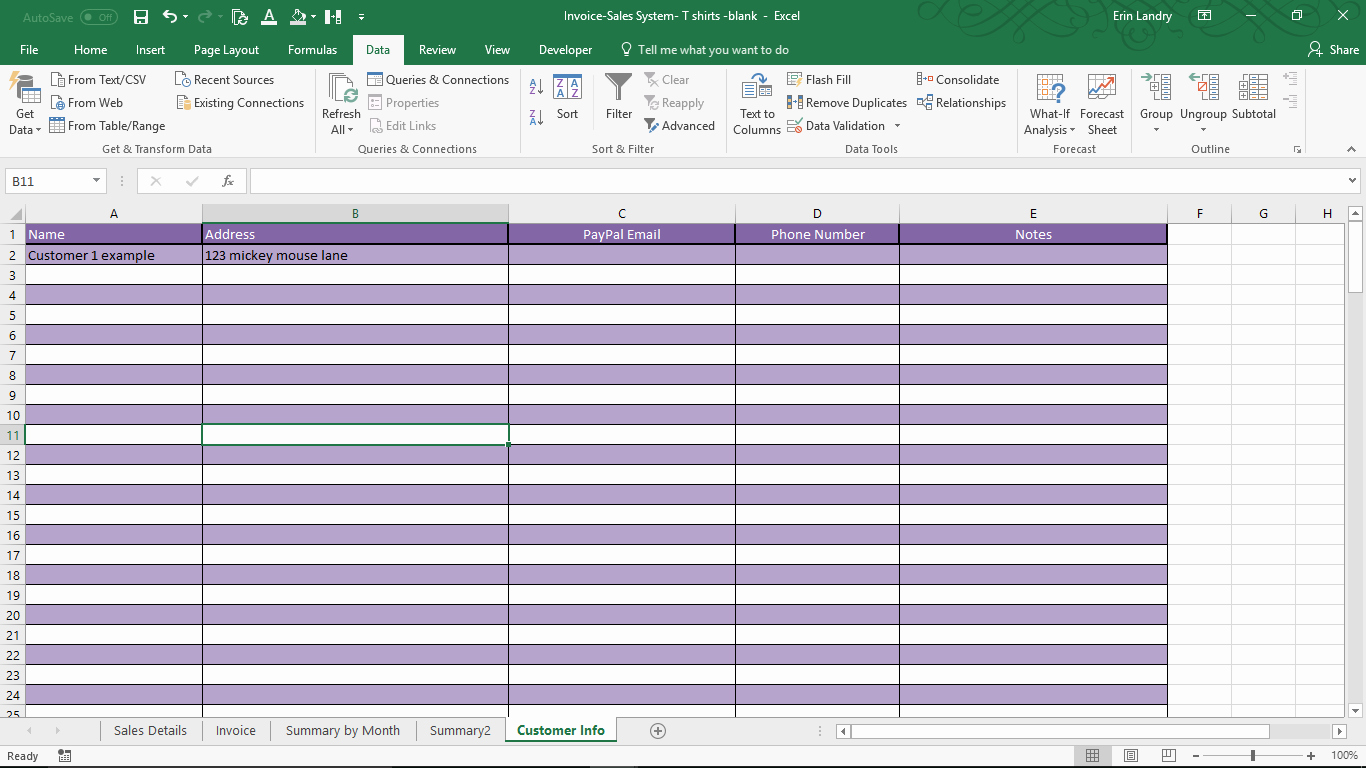 T Shirt Inventory Template Unique Invoice and Sales System for T Shirt Makers