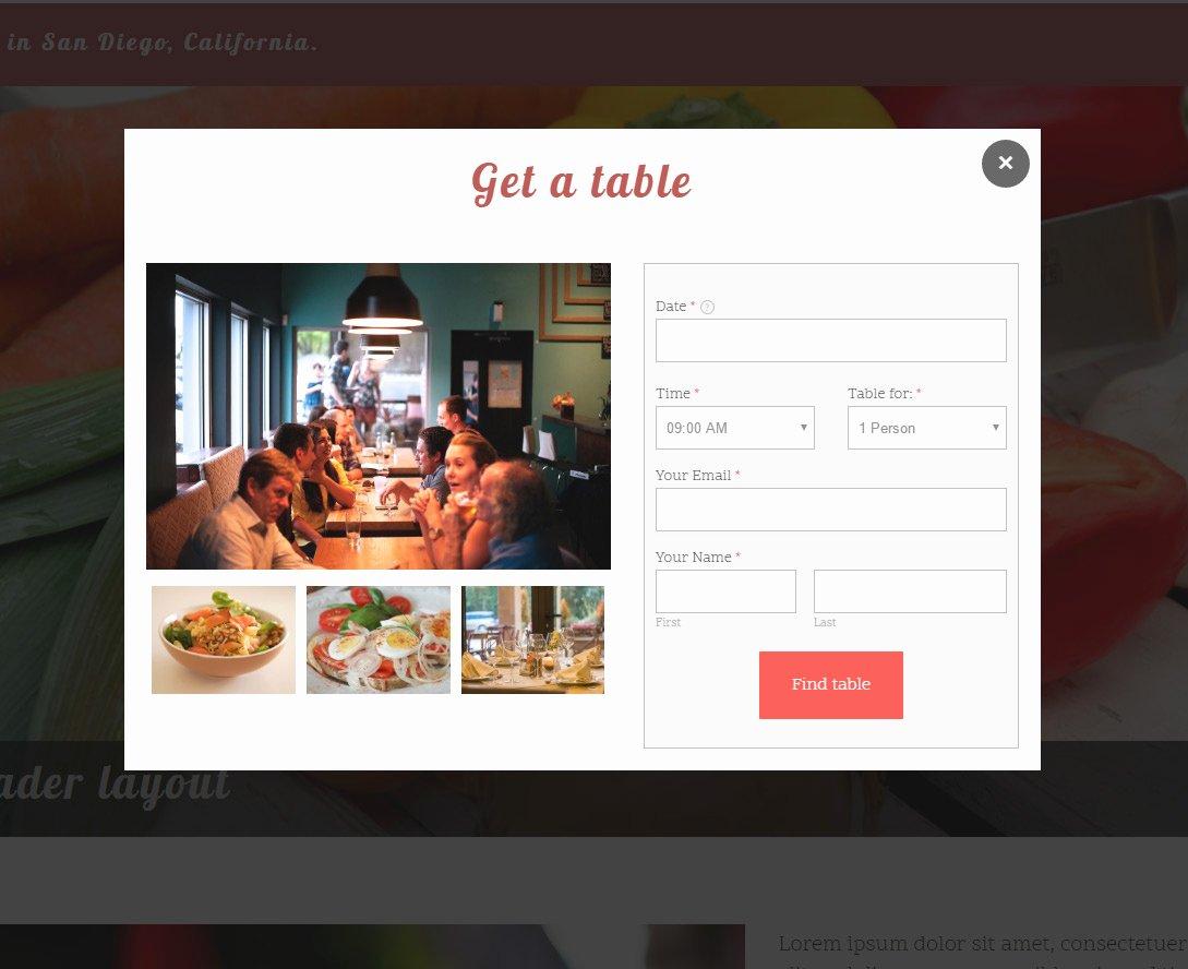 Table Reservation Template Elegant Cafe theme Modern Restaurante Template for Weebly Websites