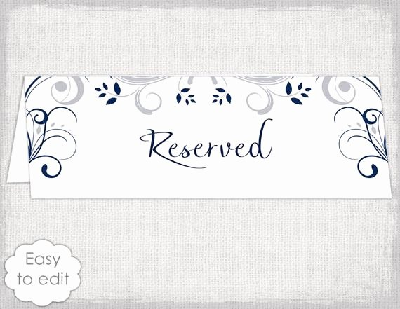 Table Reservation Template Elegant Reserved Table Sign Template Word