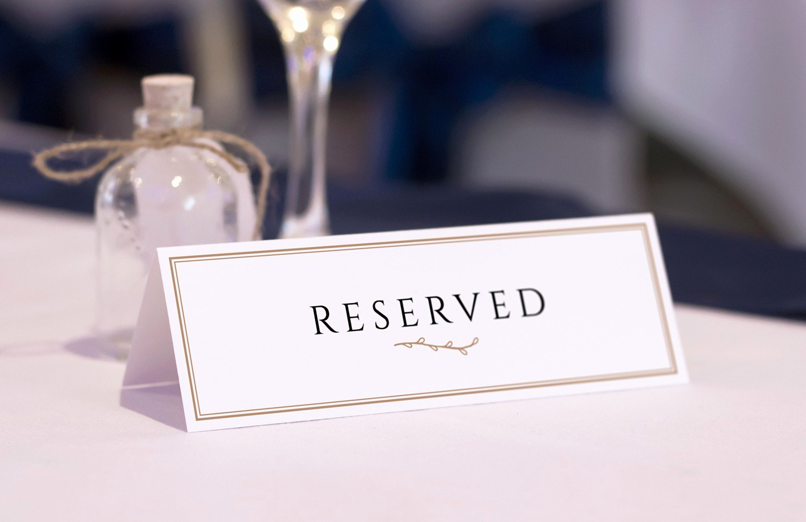 Table Reservation Template Inspirational Reserved Table Card Mockups — Medialoot