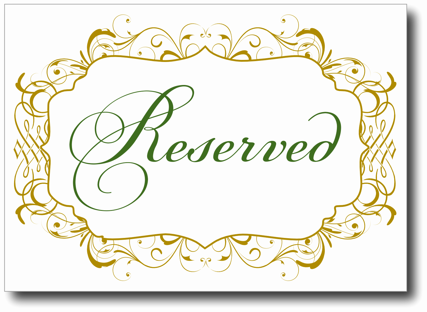 Table Reservation Template Luxury Reserved Table Sign Template Free