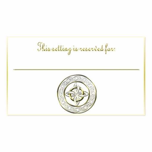 Table Reservation Template New Celtic Knot Table Reservation Card Business Card