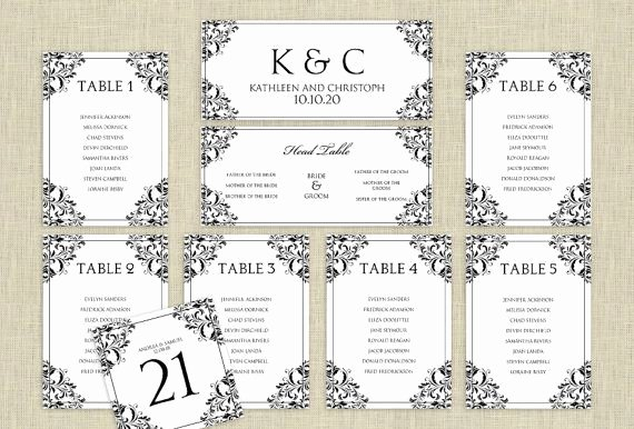 Table Seating Chart Template Microsoft Word Awesome Wedding Seating Chart Template Download Instantly