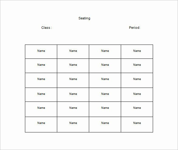 Table Seating Chart Template Microsoft Word Beautiful Classroom Seating Chart Template 10 Examples In Pdf
