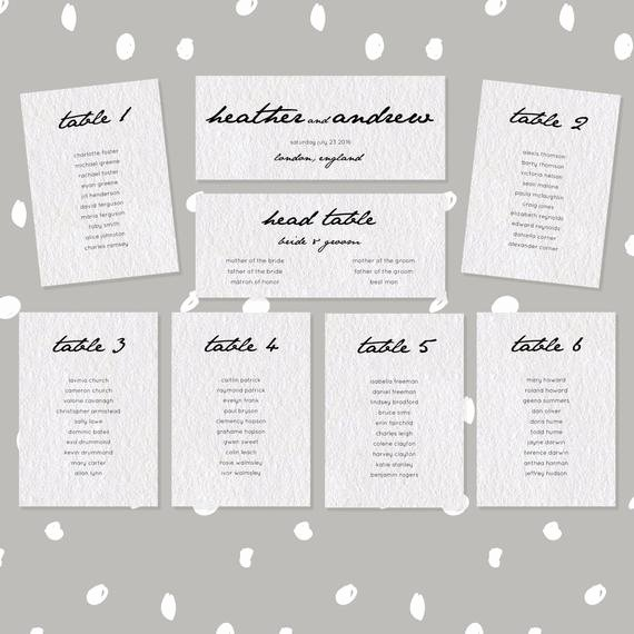 Table Seating Chart Template Microsoft Word Inspirational Items Similar to Wedding Seating Chart Template Editable