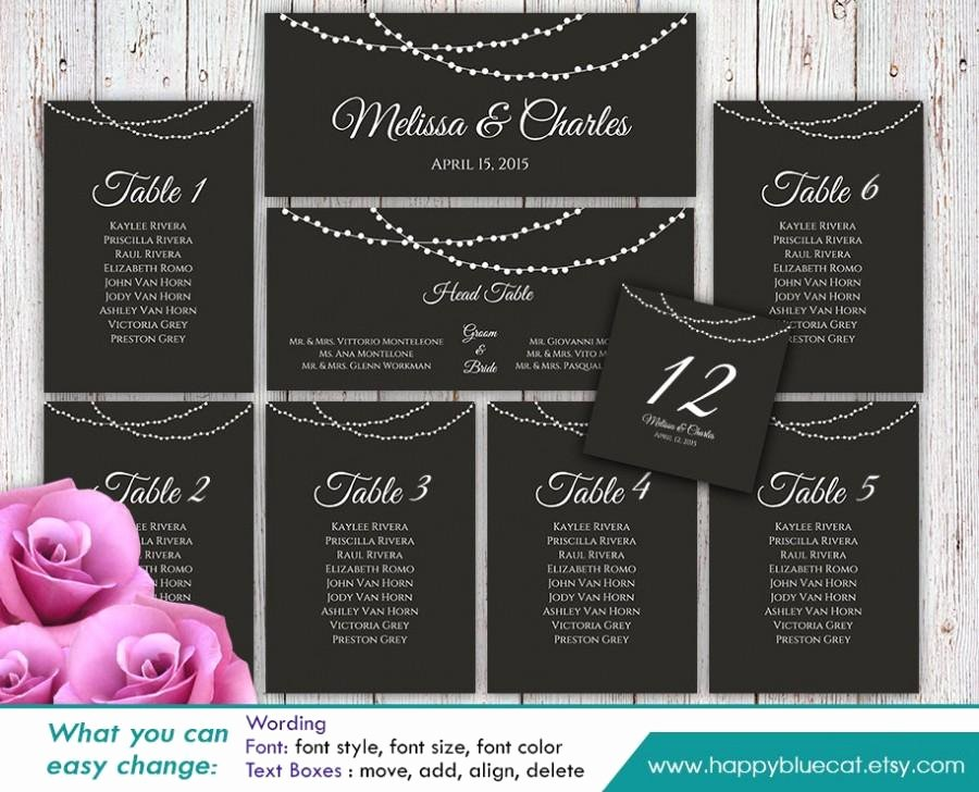 Table Seating Chart Template Microsoft Word Unique Diy Printable Wedding Seating Chart Template Instant