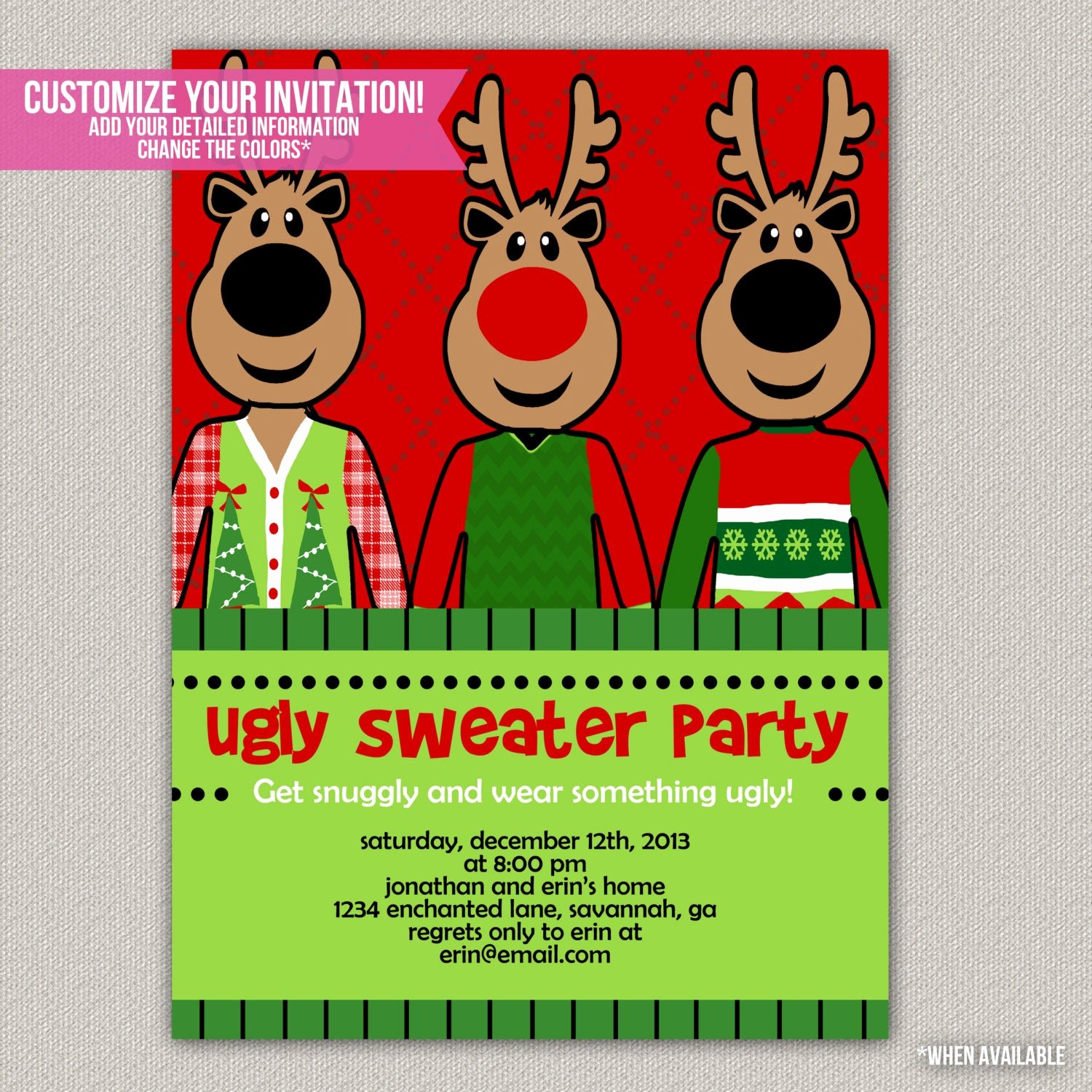 Tacky Christmas Sweater Party Invitation Wording Best Of Ugly Sweater Party Tacky Sweater Christmas by