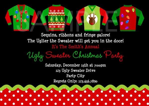 Tacky Christmas Sweater Party Invitation Wording Inspirational Ugly Christmas Sweater Party Ideas Christmas Celebration
