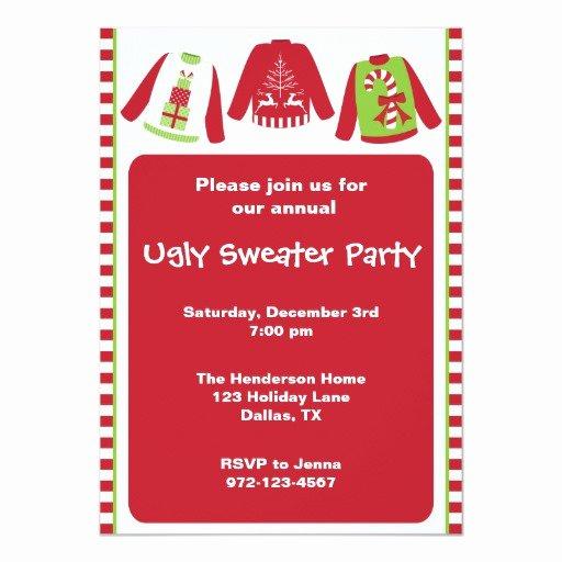 Tacky Christmas Sweater Party Invitation Wording Inspirational Ugly Christmas Sweater Party Invitations