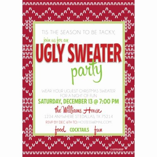 Tacky Christmas Sweater Party Invitation Wording Inspirational Ugly Sweater Party Invitation