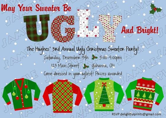 Tacky Christmas Sweater Party Invitation Wording Luxury Colors Ugly Sweater and Christmas Sweaters On Pinterest