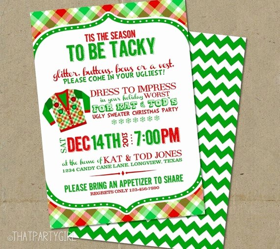Tacky Christmas Sweater Party Invitation Wording Luxury Ugly Sweater Invitation Ugly Sweater Invite Ugly Sweater