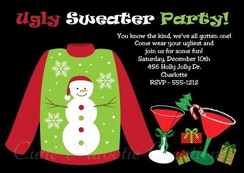 Tacky Christmas Sweater Party Invitation Wording Luxury Ugly Sweater Party Invitation Printable Digital