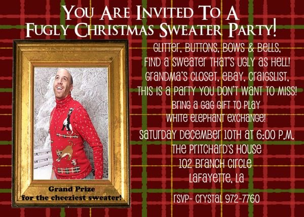 Tacky Christmas Sweater Party Invitation Wording New Tacky Christmas Sweater Party Invitation Wording