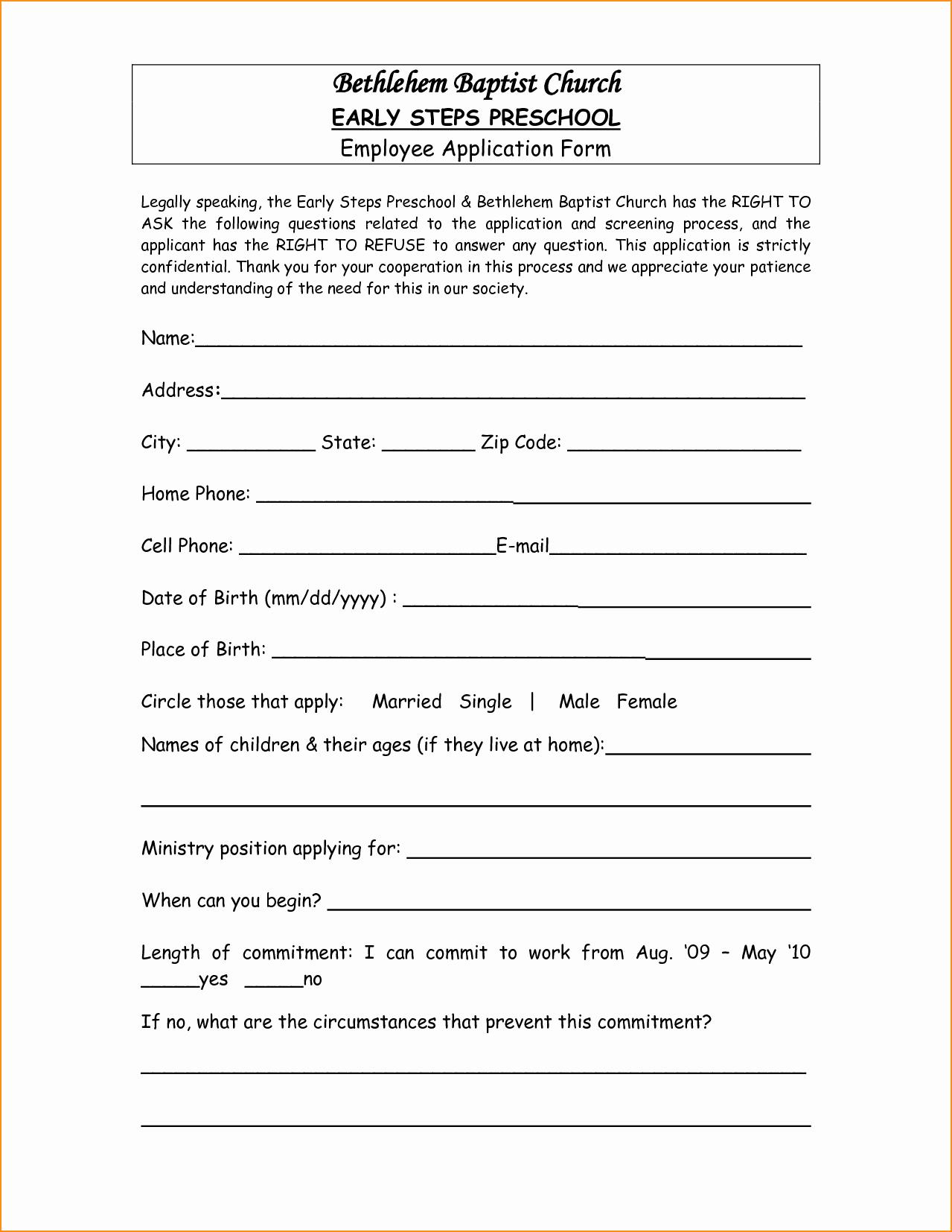 Teacher Application forms Elegant Application Letter for Preschool Teacher Basic Job