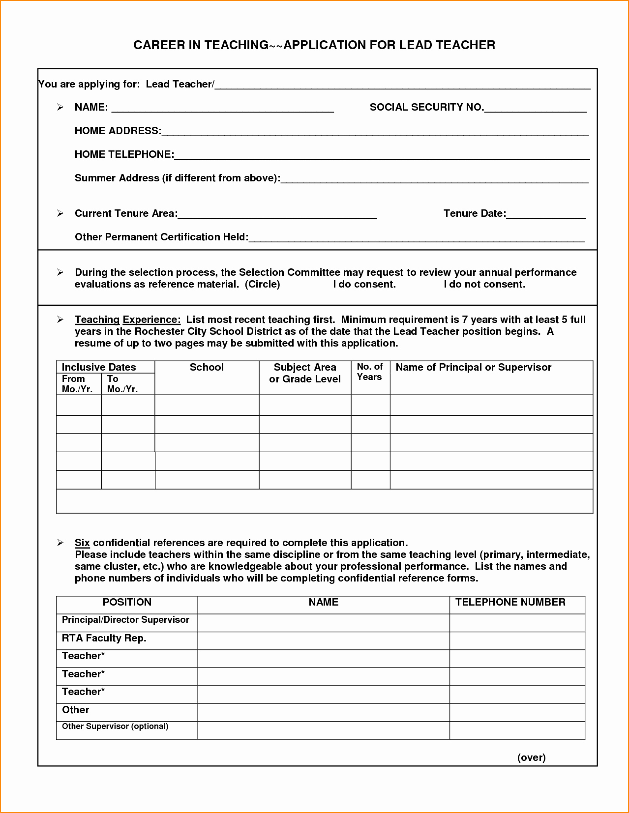 Teacher Application forms Fresh Application for A Teacher Job Cover Letter Samples