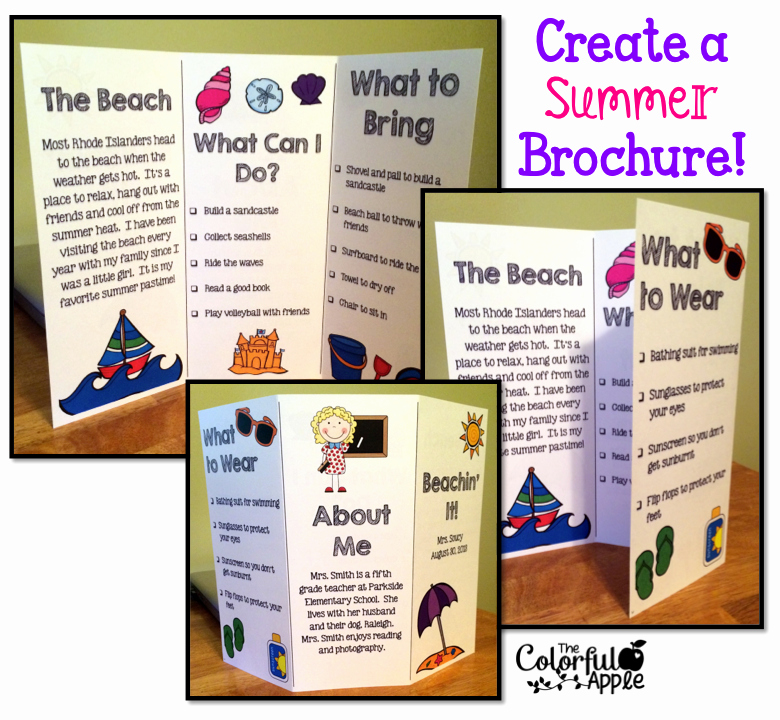 Teacher Brochure for Interview Template Awesome Back to School Idea Students Create A Brochure About