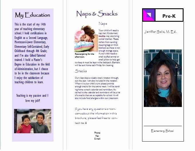 Teacher Brochure for Interview Template Beautiful the Busy Teacher Meet the Teacher New School Year Brochure