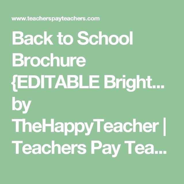 Teacher Brochure for Interview Template Best Of 1000 Ideas About Teacher Brochure On Pinterest