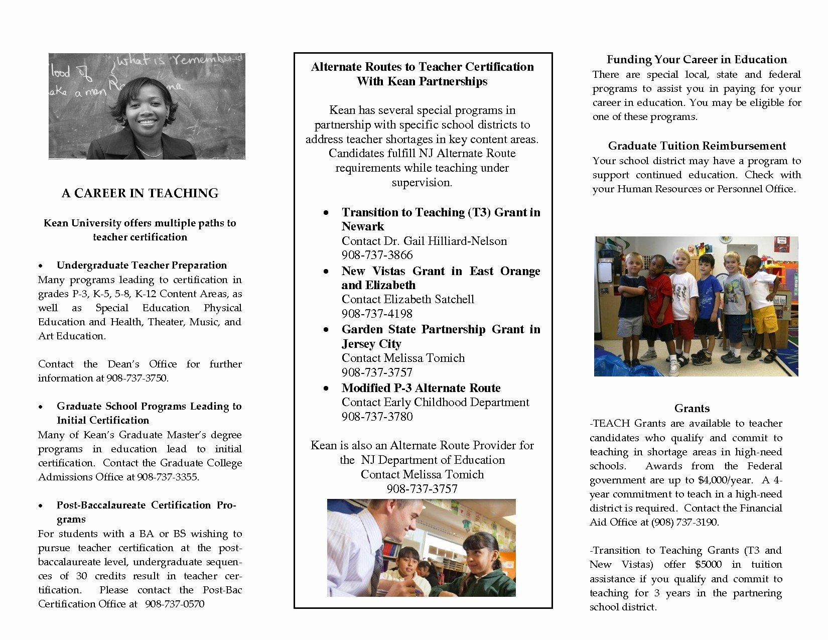 Teacher Brochure for Interview Template Best Of Teacher Interview Brochure Template