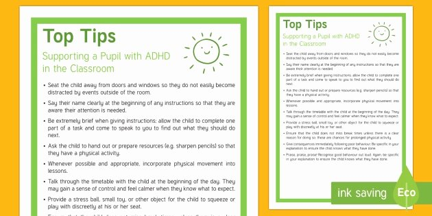 Teacher Brochure for Interview Template Inspirational 50 Inspirational Adhd Brochure for Teachers