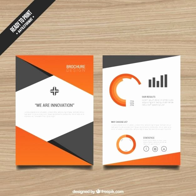Teacher Brochure for Interview Template Inspirational Brochure Template with orange Elements Free Vector