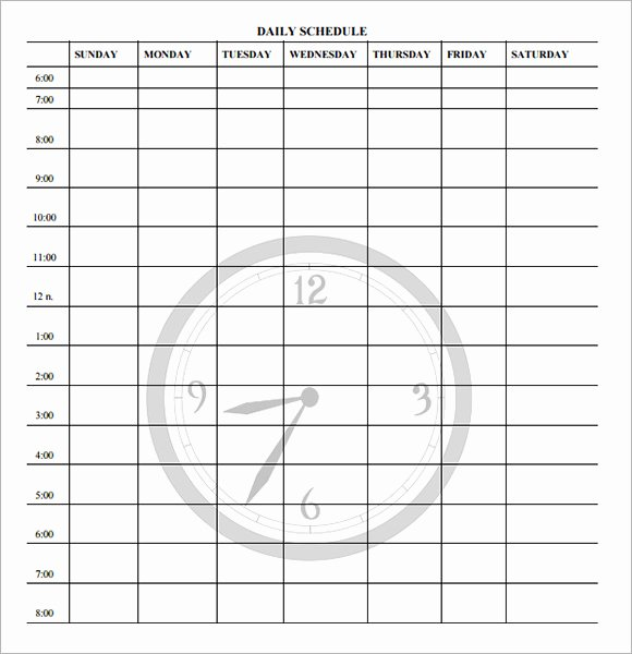 Teacher Daily Schedule Template Free Awesome Daily Schedule Template for Teachers Driverlayer Search