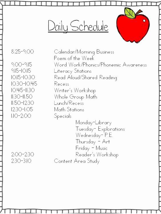 Teacher Daily Schedule Template Free New Mrs Wills Kindergarten Schedule Can I Tweak It and Make