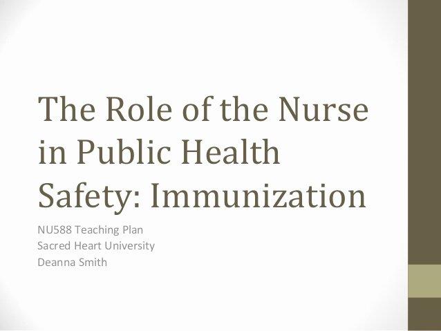 Teaching Plan Nursing Elegant the Role Of the Nurse In Public Health Safety Immunization