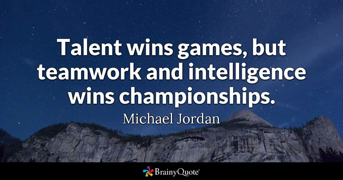 Team Player Definition Essay Luxury Talent Wins Games but Teamwork and Intelligence Wins