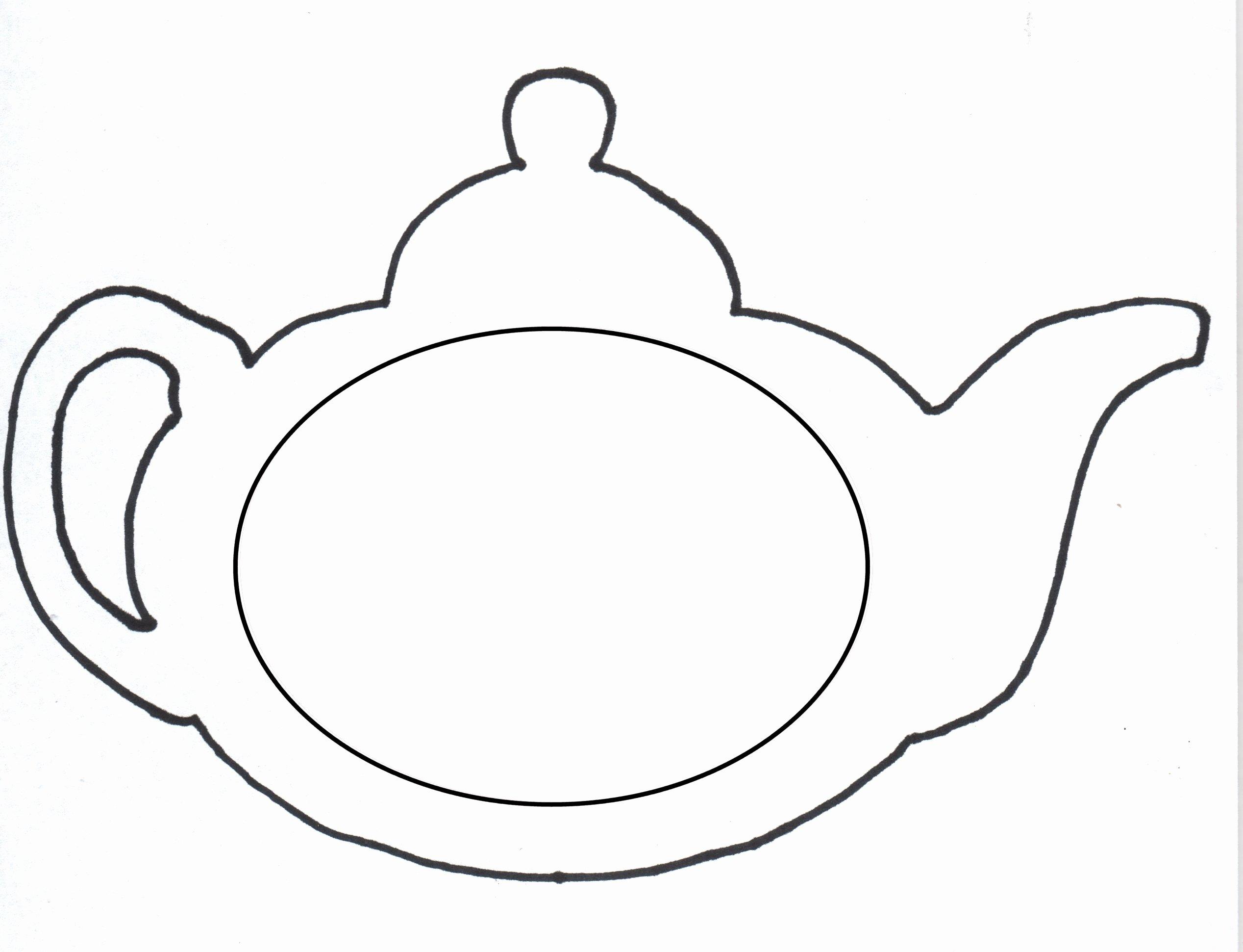 Teapot Template Free Printable Beautiful Tea Pot Template Clipart Best