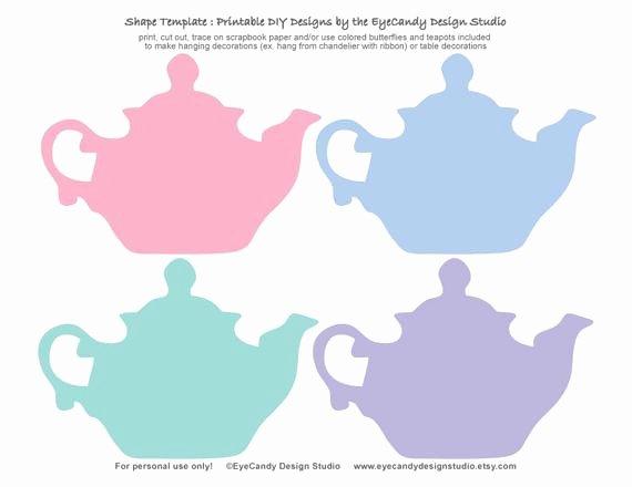 Teapot Template Free Printable Elegant Items Similar to Printable Tea Pot & butterfly Templates
