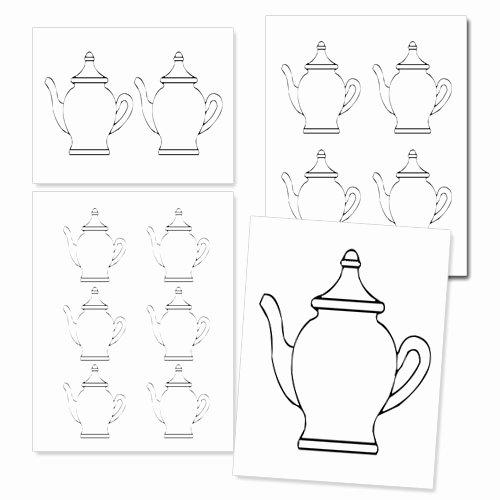 Teapot Template Free Printable Inspirational Printable Teapot Template — Printable Treats