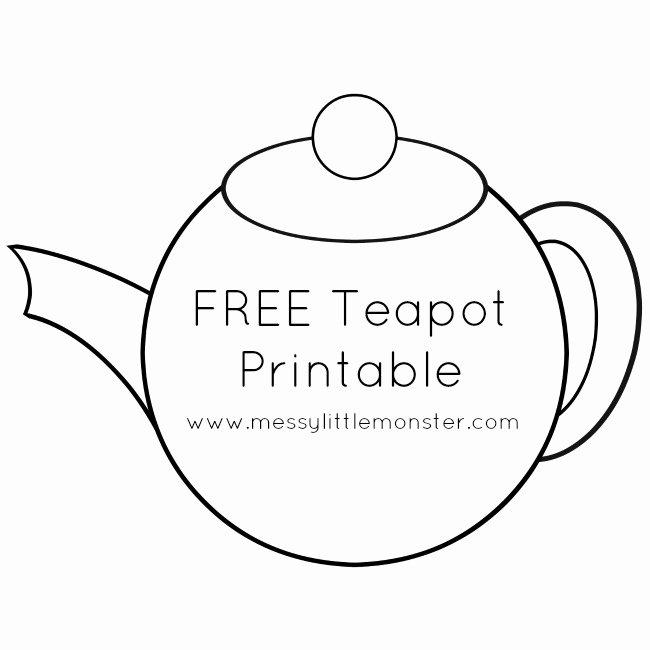 Teapot Template Free Printable Unique You Re Tea Riffic Teapot Craft Free Printable Teapot