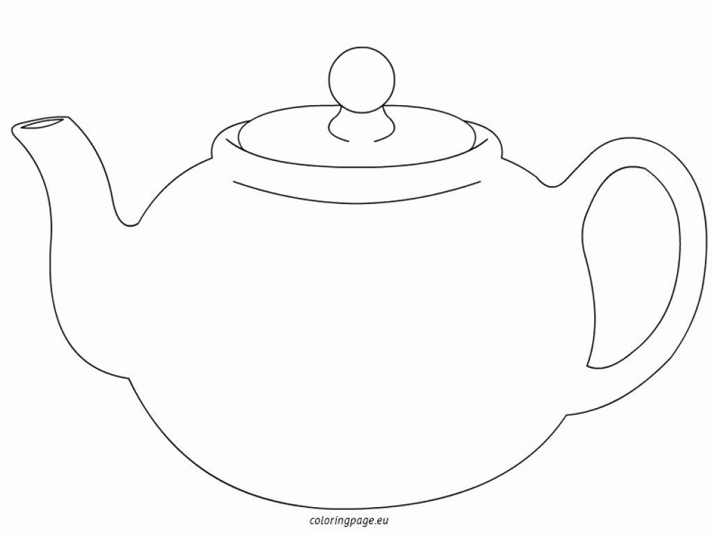 Teapot Template Printable Beautiful Tea Pot Coloring Sheets Teapot Page Grig3