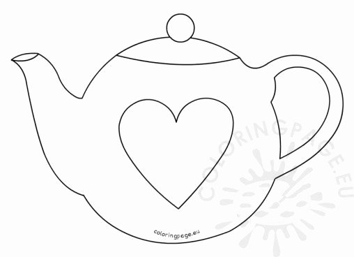 Teapot Template Printable Best Of Coloring Page