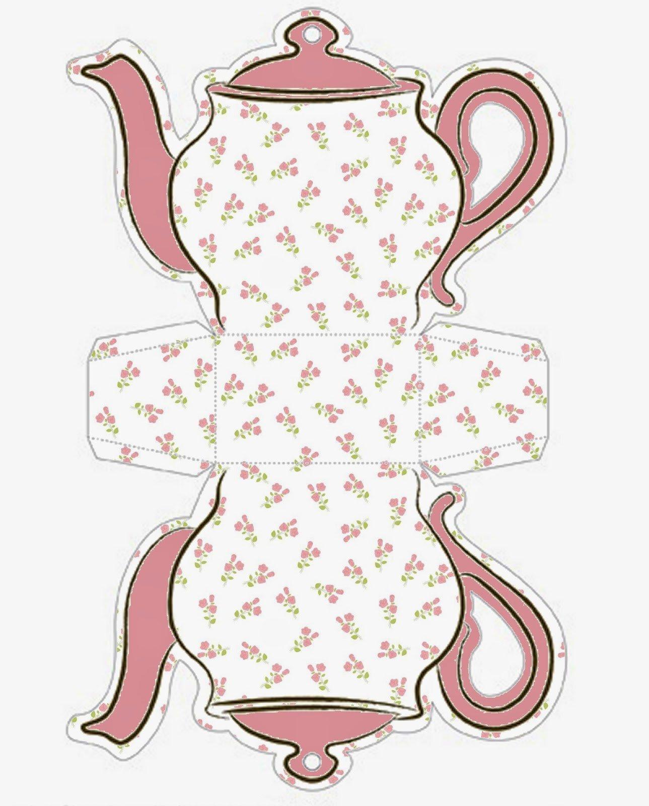 Teapot Template Printable Elegant Shabby Chic Teapot Free Printable Boxes