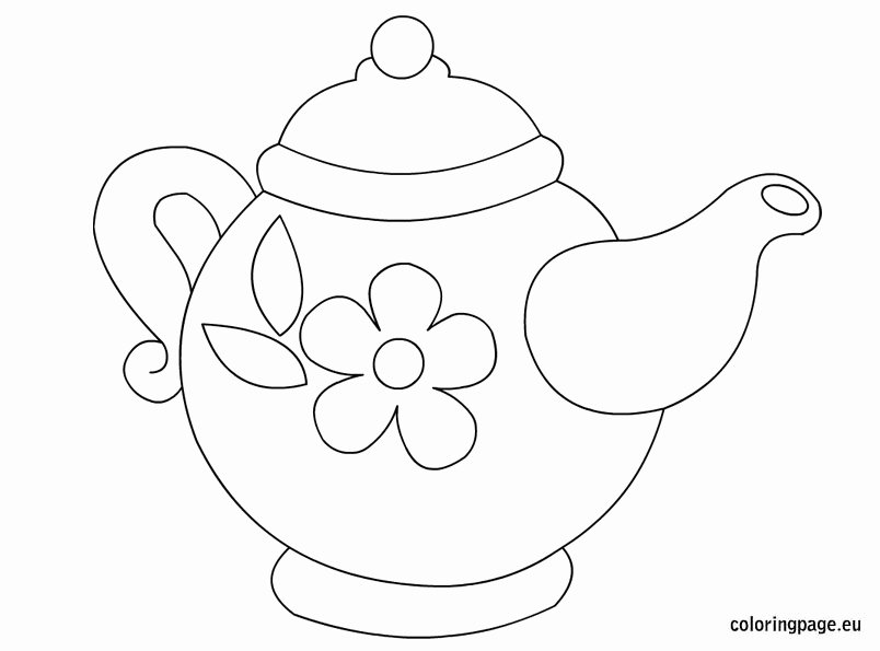 Teapot Template Printable Fresh Drawn Teapot Template Pencil and In Color Drawn Teapot
