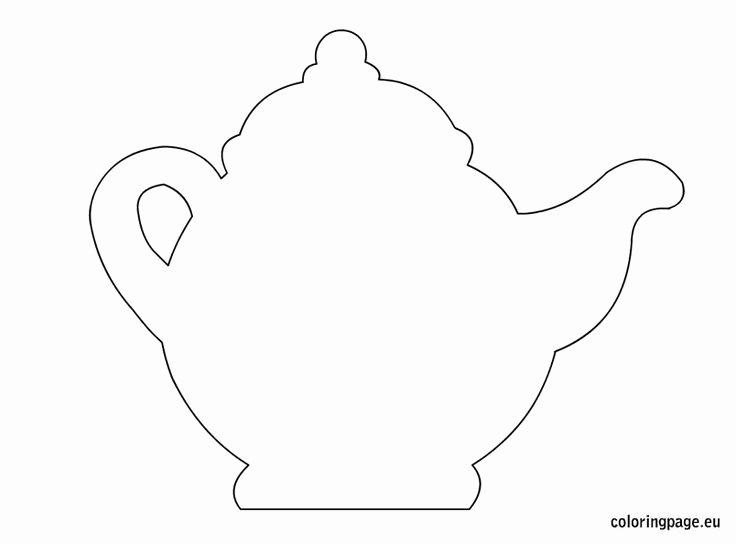 Teapot Template Printable Fresh Teapot Template Cards