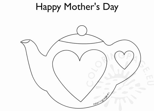 Teapot Template Printable Luxury Coloring Page