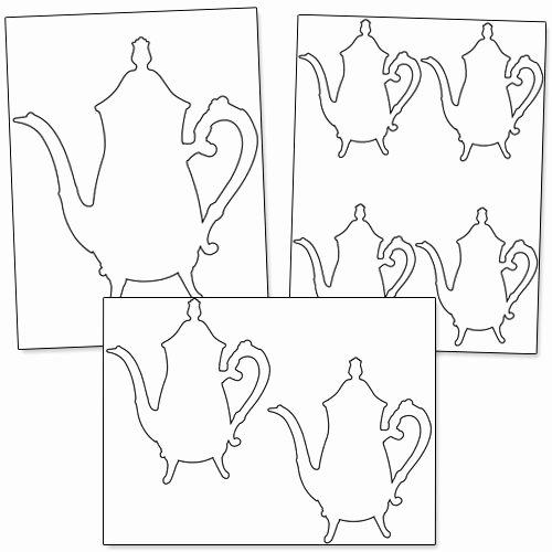 Teapot Template Printable New Printable Teapot Stencil — Printable Treats